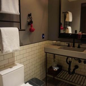 Moxy Hotel vanity area