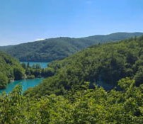 Panorama of Plitvice Lakes