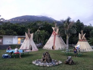 Camping at Palm Beach Teepee Village