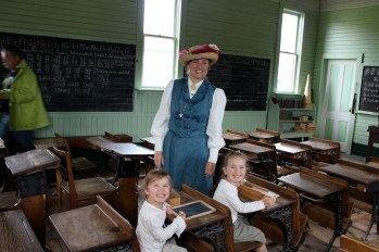 School house---The lady in costume gave us a tour