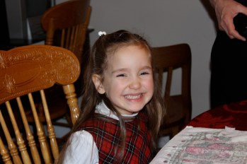 The happy birthday girl!