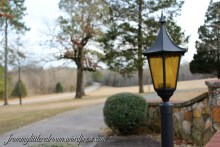 Some people would call these lampposts out-dated, but I can't imagine the house without them.