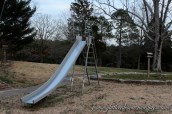 The awesome slide! Burns your skin in the summer and freezes your buns in the winter! ...but when you're having fun, you don't notice. :)