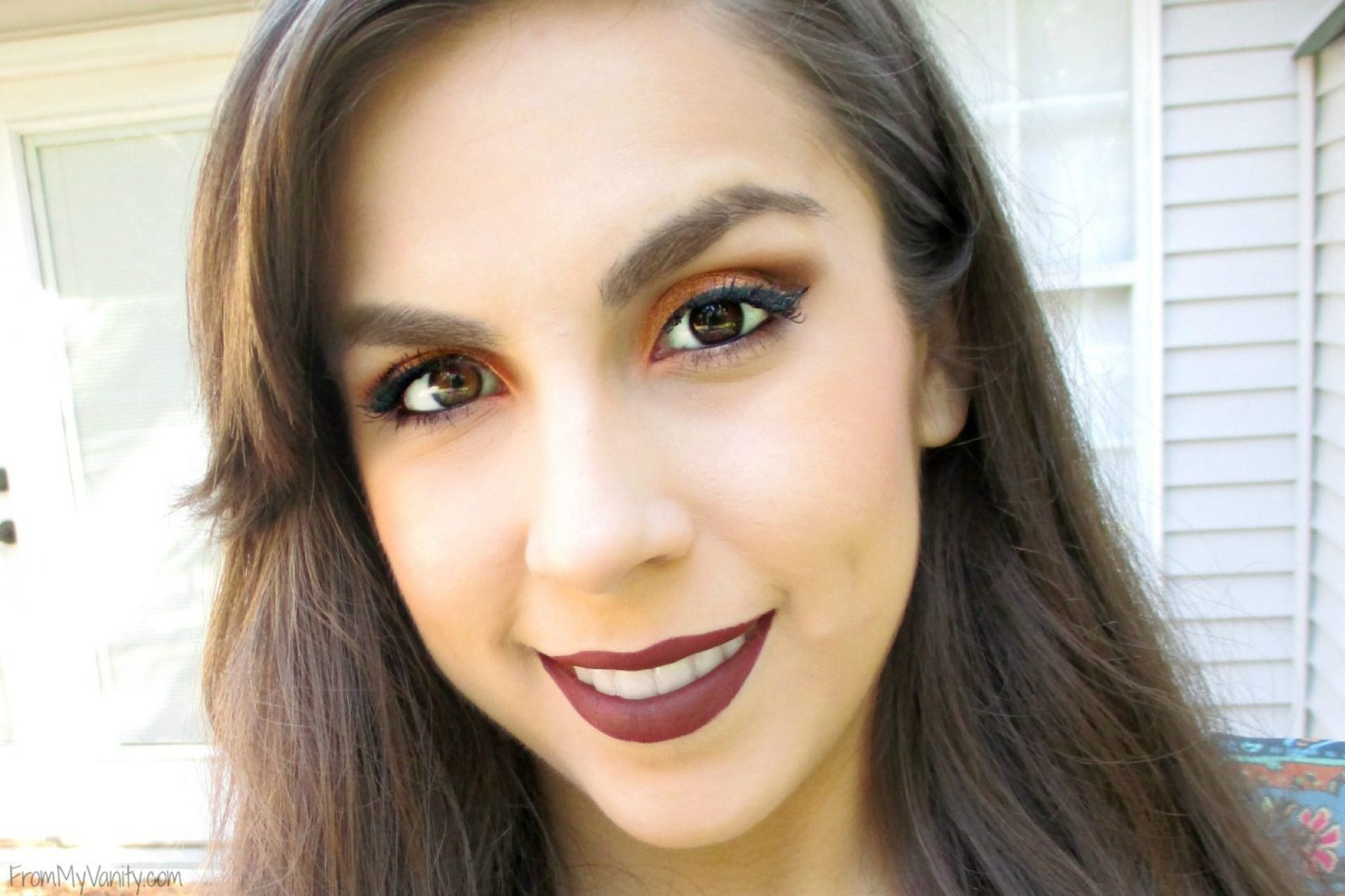 Fall-Inspired Face of the Day // featuring Too Faced Semi-Sweet Chocolate Bar Palette // Face Pic // #bbcchallenge #fotd #toofaced FromMyVanity.com
