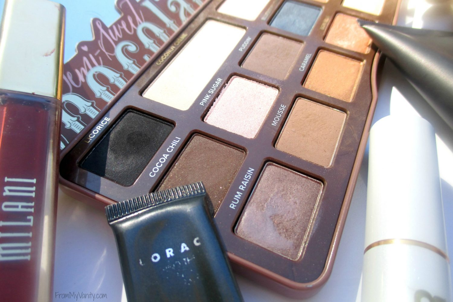 Fall-Inspired Face of the Day // featuring Too Faced Semi-Sweet Chocolate Bar Palette // Close up of Palette // #bbcchallenge #fotd #toofaced FromMyVanity.com