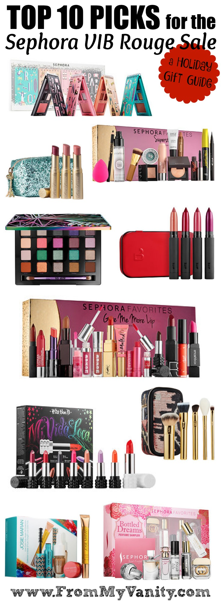 Top 10 Picks for Sephora's VIB Rouge Sale // A Holiday Gift Guide // #beauty #sephorahaul #Sephora FromMyVanity.com