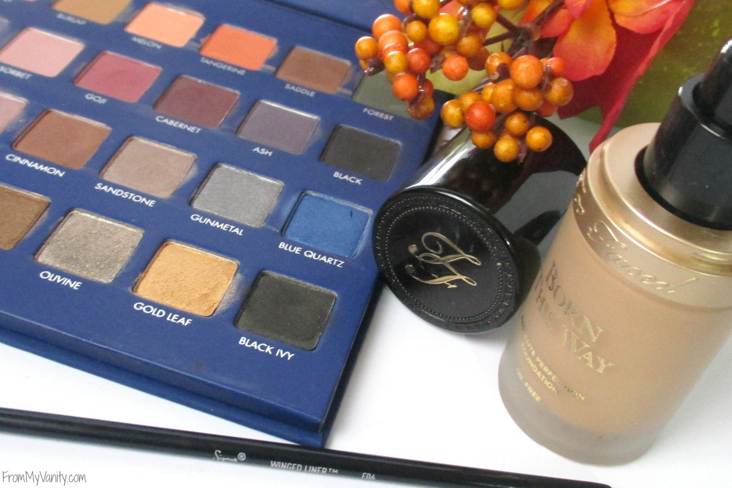 Monthly Beauty Favorites // October 2015 // Too Faced foundation & LORAC Mega Pro 2 palette // FromMyVanity.com
