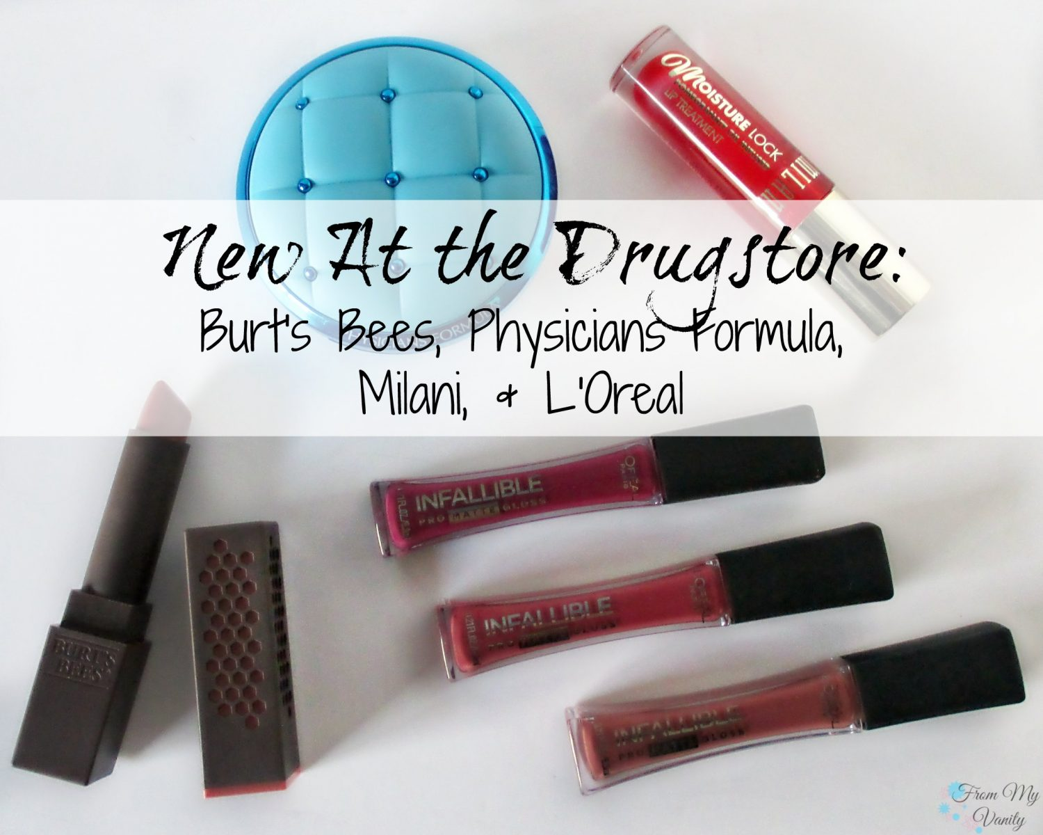 New at the Drugstore: Burts Bees, Physicians Formula, Milani, & Loreal // Mini reviews // FromMyVanity.com