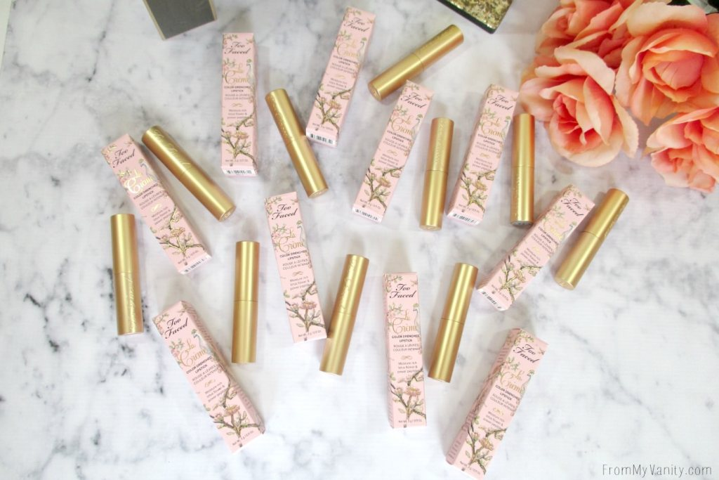 The packaging for the La Creme Color Drenched lipsticks are so classy and chic!