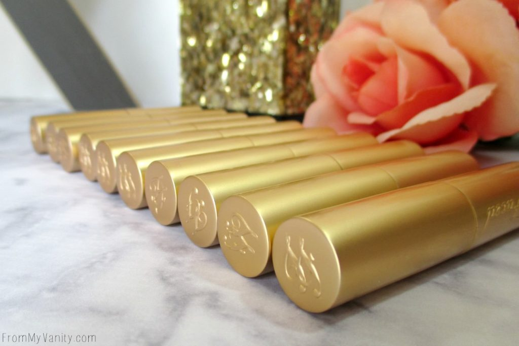Too Faced knows how to design their packaging! These new La Creme Color Drenched lipstick tubes are classy!