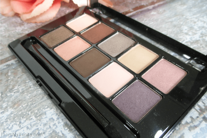The purple and soft pink add a pop of color to this nude palette | FromMyVanity.com