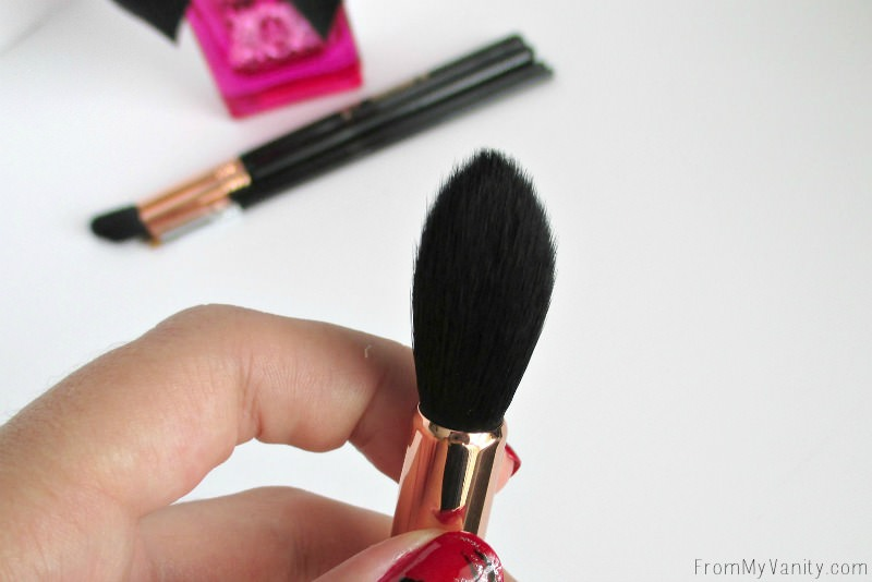 Closeup of my Sigma Beauty Tapered Highlighter F35 Brush