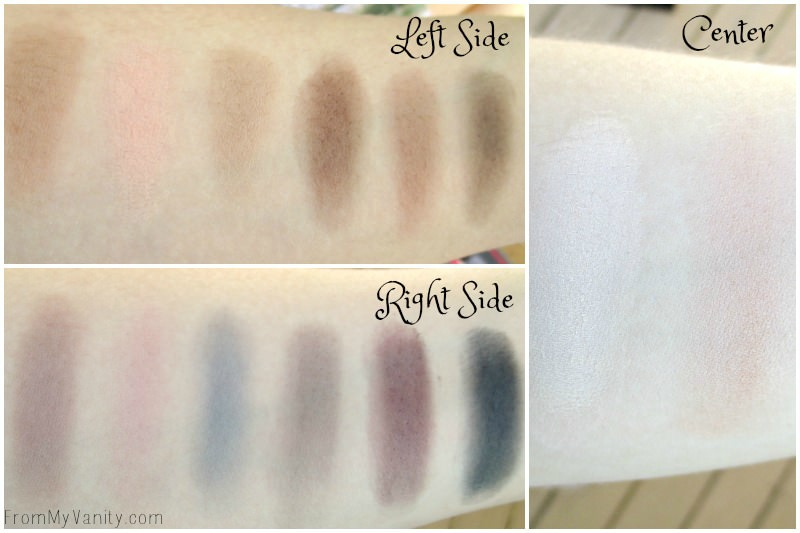 Swatches of the new Smashbox palette