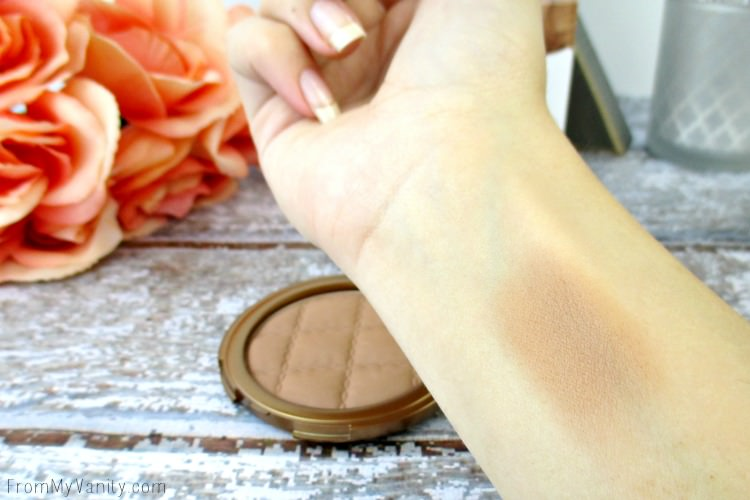 Arm swatch of the Laura Geller Beach Matte bronzer in Seista Medium
