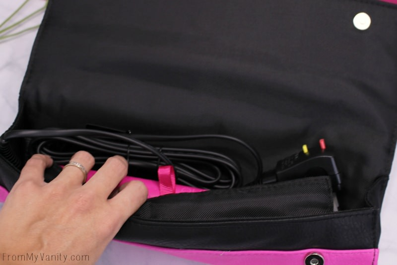 This limited edition pink flat iron from ghd comes with it's own heat resistant case!