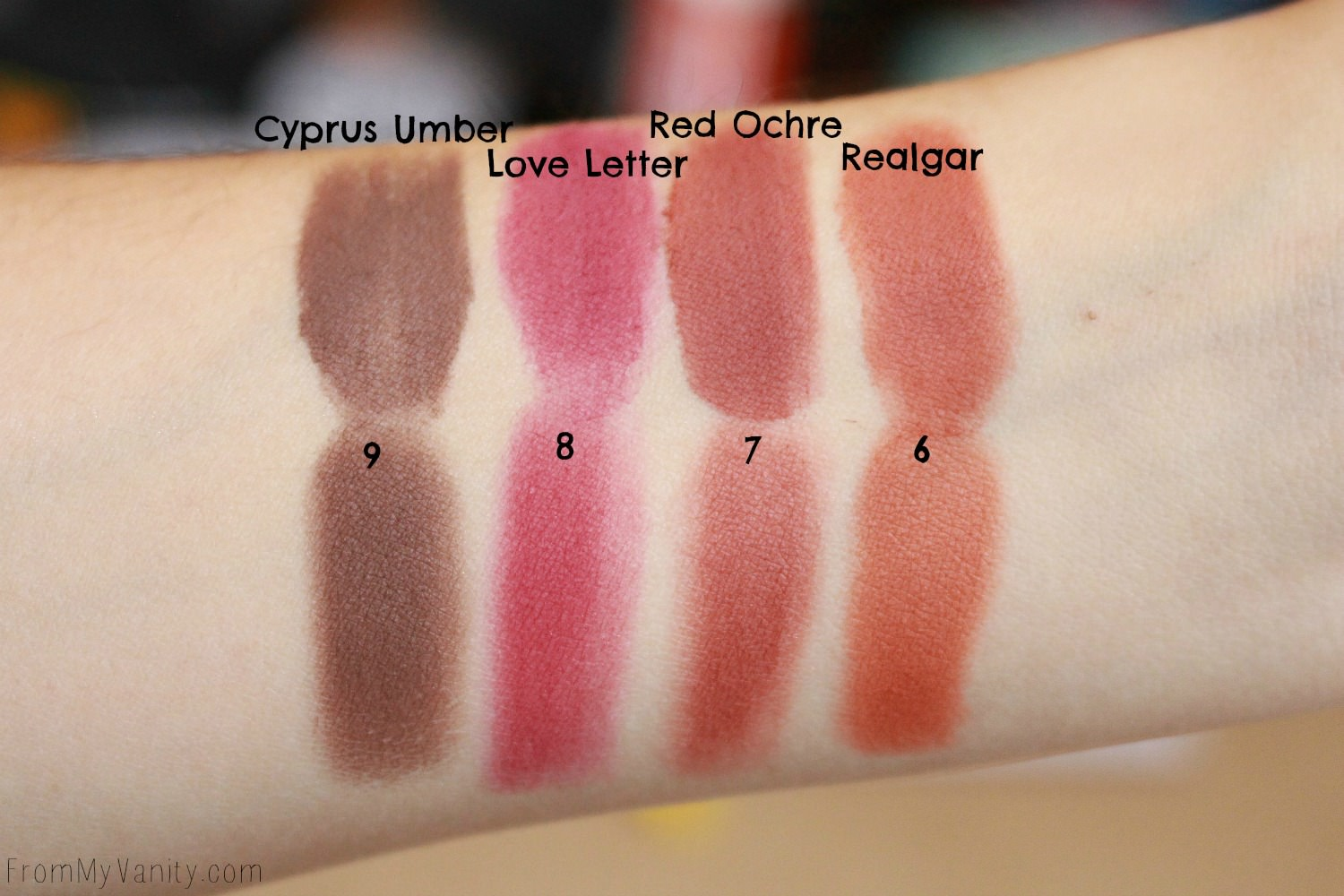 Dupe or Dud | ABH Modern Renaissance vs Wet n Wild Rosé in the Air Palette | Swatch Comparison, Second Row