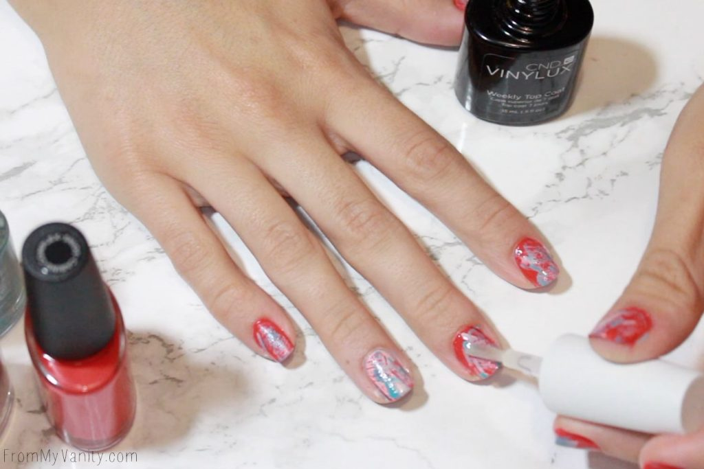 Easy Summer Nail Art with CND VINYLUX | Tutorial | Step 5