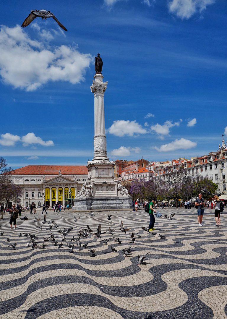 Praça Dom Pedro IV ou Rossio à Lisbonne