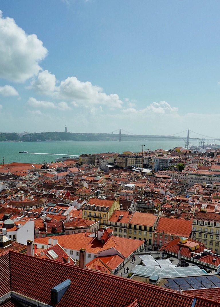View from Castelo Sao Jorge Lisbon