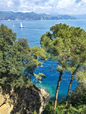 Vue de la pointe de Portofino