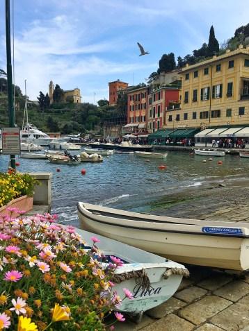 Bateaux sur le port de Portofino