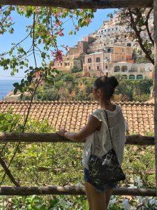 View on Positano houses Italy