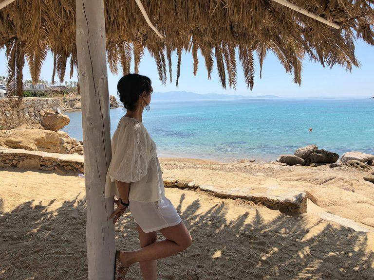 Paranga plage Mykonos Grèce