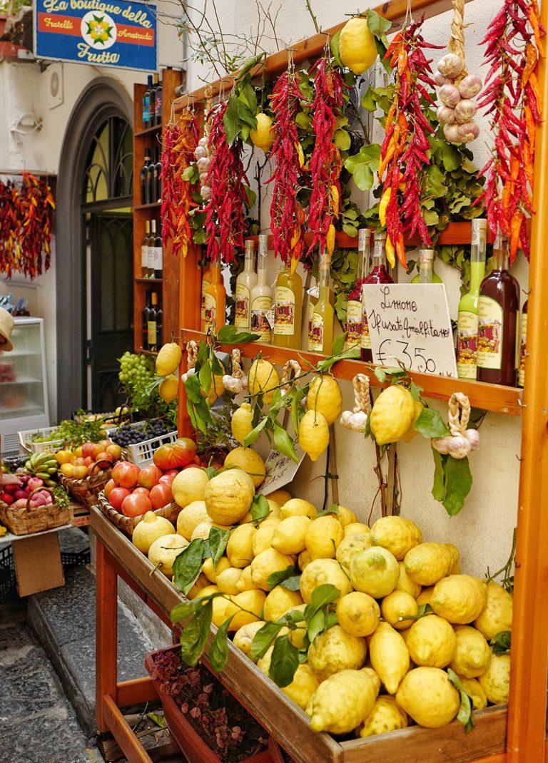 Local products Amalfi coast, Italy