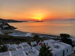 coucher de soleil Mykonos