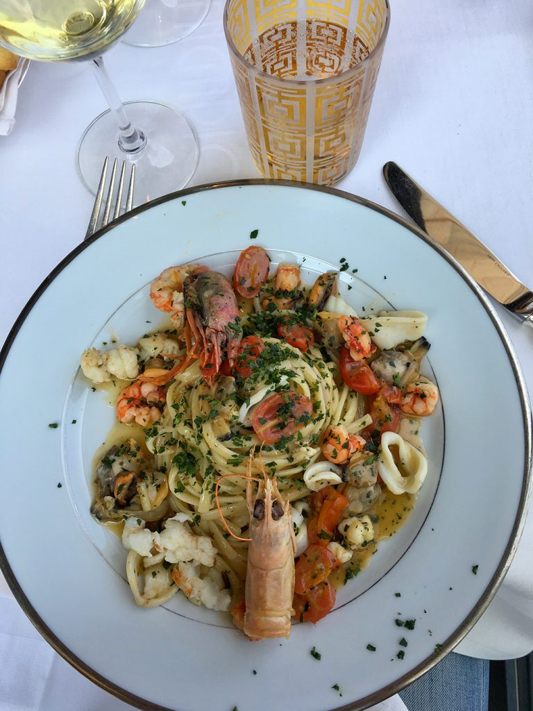 Seafood dish Giacomo Arengario restaurant