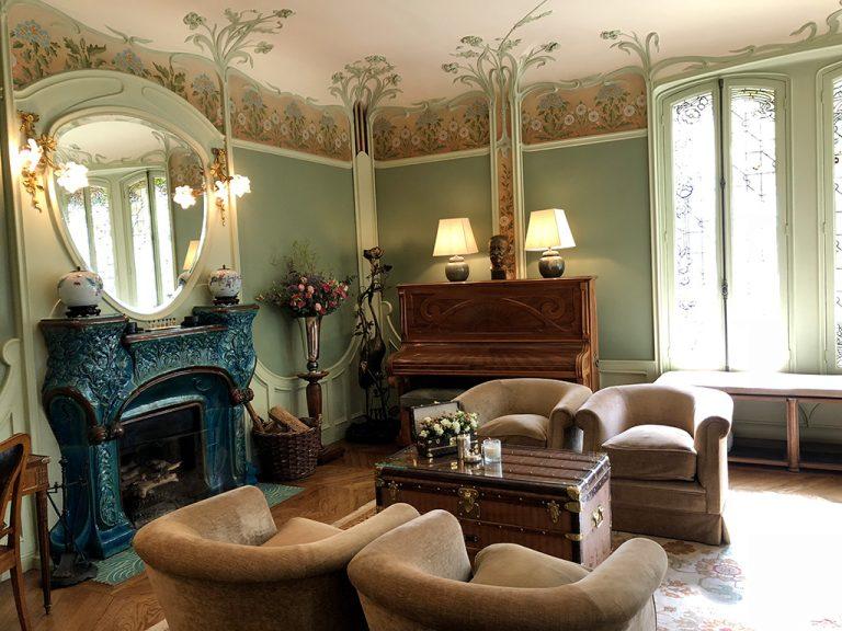 Art Nouveau style living room Louis Vuitton house