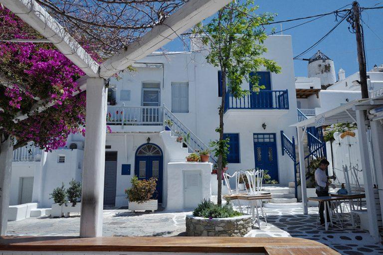 Old town Mykonos Greece