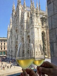 Vue sur le Duomo du restaurant Giacomo Arengario