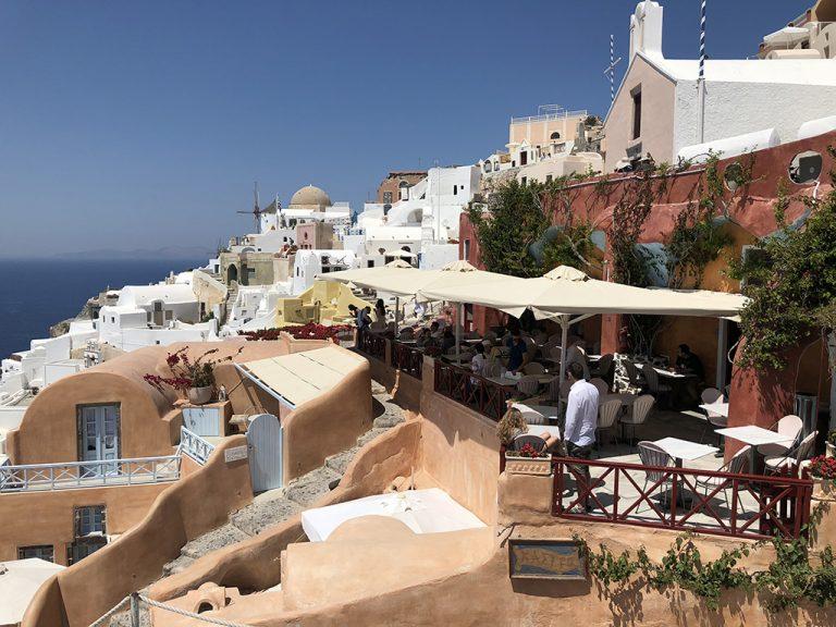 Kastro restaurant Oia, Thira Grèce