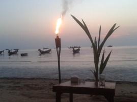 Diner sur la plage à Koh Tao