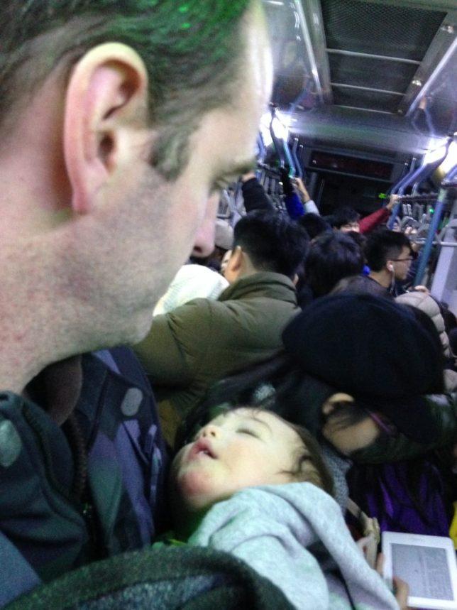 Sleeping Baby on Bus