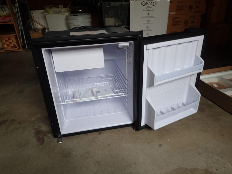 The inside of the fridge