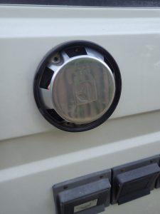 Westfalia exterior exhaust vent close up