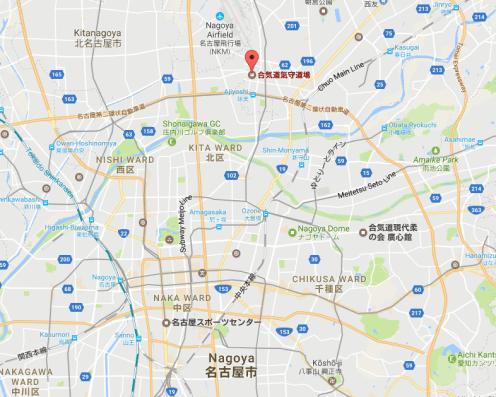 Kimori Aikido Dojo Map in Nagoya