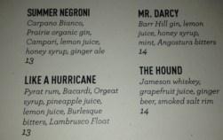 menu darcy