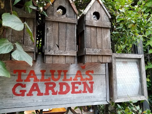 Talula's Garden Sign