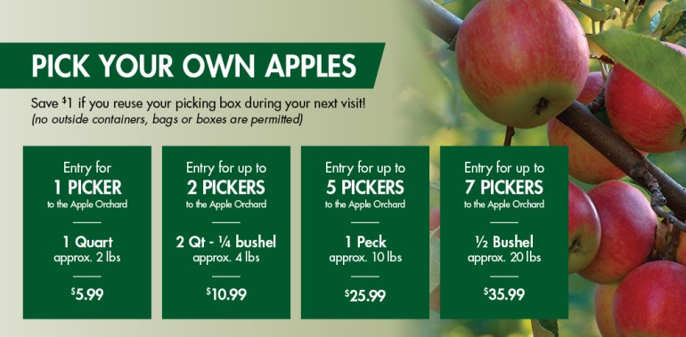 Apple picking at Linvilla - Pricing
