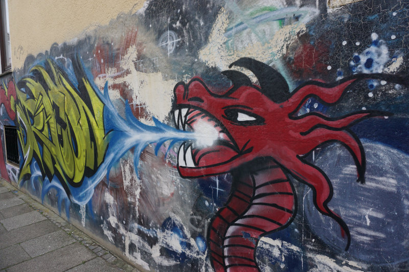 dragon - Street art in Bremen