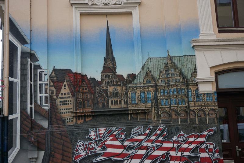 Skyline von Bremen - Street art