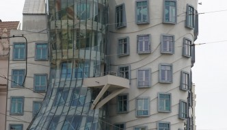 """The """"Dancing House"""" in Prague"""