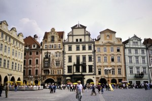 Old Town Square in Prague 1992