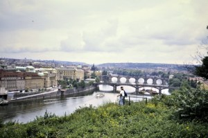 The Vltava River in Prague 1992