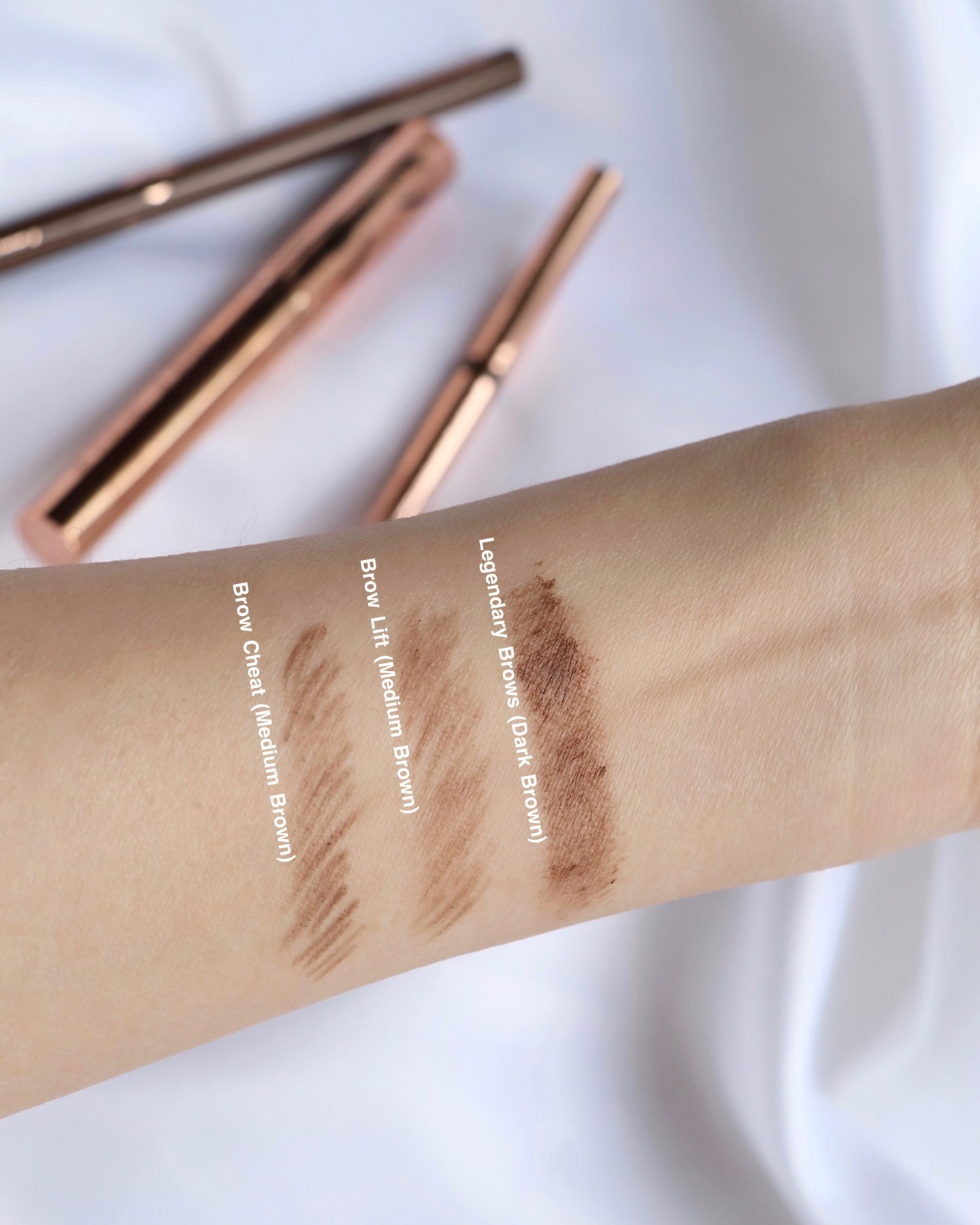 Charlotte Tilbury Supermodel Brows System Swatches