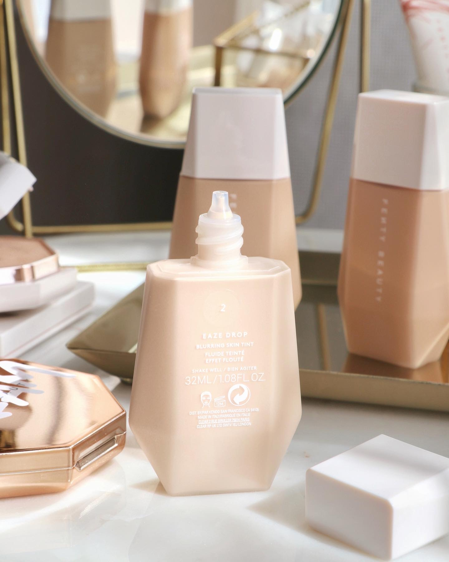 Fenty Beauty Eaze Drop Blurring Skin Tint Review & Swatches