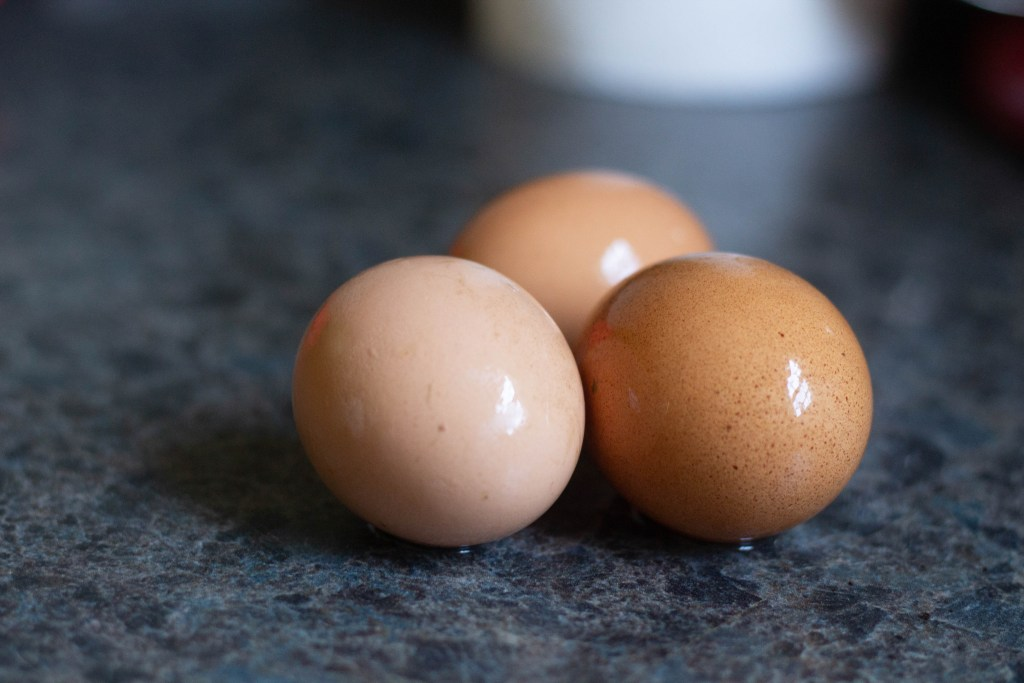 farm fresh eggs for a Dutch Baby recipe